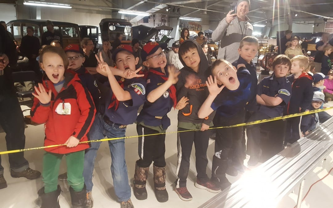 MDI Cub Scouts Pinewood Derby held at the museum